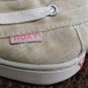 Roxy Flats Cream and White 6